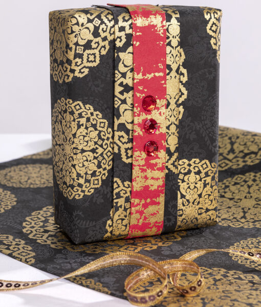 Handmade Black Wrapping Paper