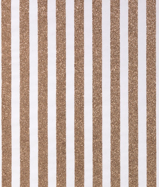 Wrapping paper gold glitter stripes is contemporary & eco friendly gift wrap.