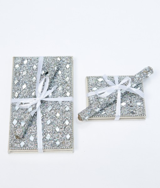 Sparkley notebook and pen set are very popular and make great presents.