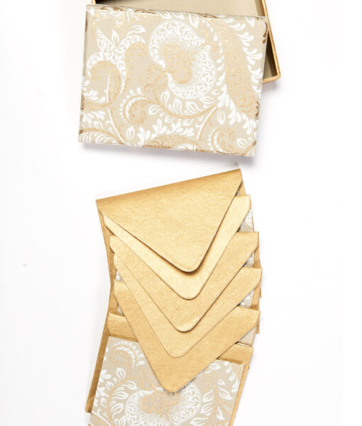 Beige splendour note card looks elegant and is made from recycled paper.