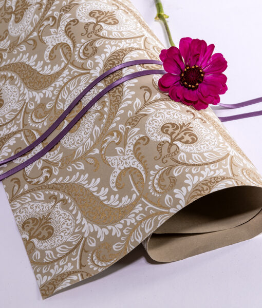 Wrapping paper beige splendour is handmade eco friendly & sustainable.
