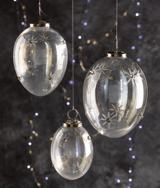 Christmas decorations Lustre baubles are perfect for the festive season.
