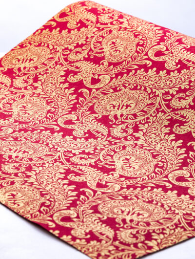 Wrapping paper red splendour is handmade eco friendly and sustainable.