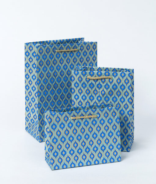 Gift bag blue lotus eyes is handmade, eco friendly, sustainable & luxurious