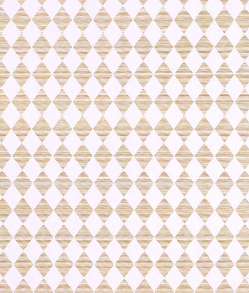 Wrapping paper diamond design is handmade from recycled cotton paper.