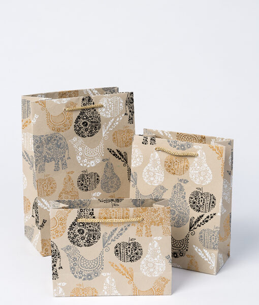 Gift bags black Elephant are charming, quirky, handmade and eco friendly.