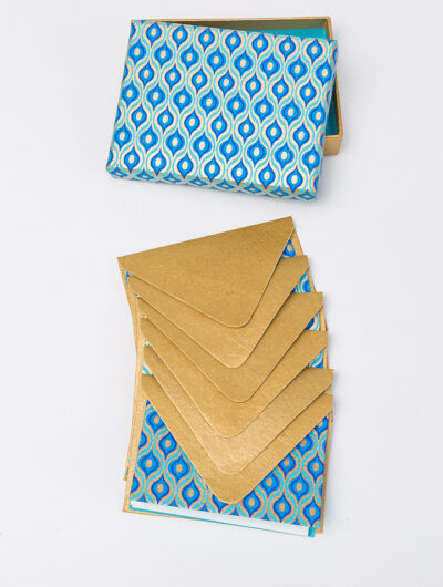 Blue lotus eyes note card is stylish and made from eco friendly paper.