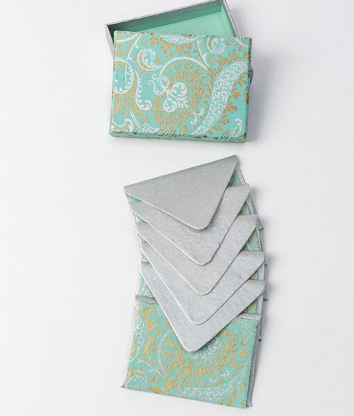 Teal splendour note card look graceful & elegant made from recycled paper