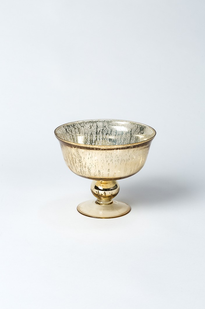 Gold Footed Bowl Small Globe Enterprise
