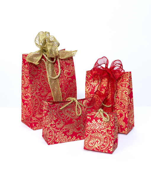 Gift bags red splendour are handmade eco friendly and sustainable.