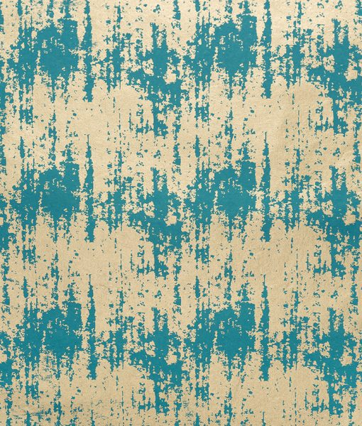 Wrapping paper turquoise splash is opulent but ecofriendly & sustainable.