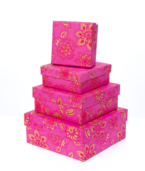 Gift boxes hot pink dahlia are colourful, handmade and eco friendly.