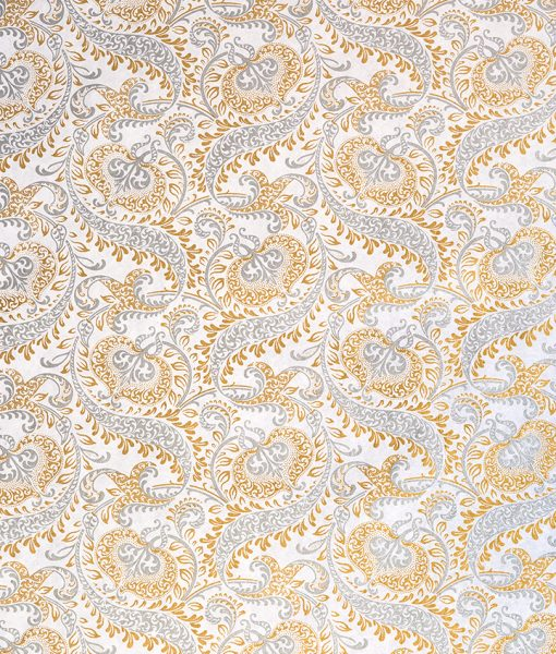 Wrapping paper white/gold splendour is handmade & sustainable.