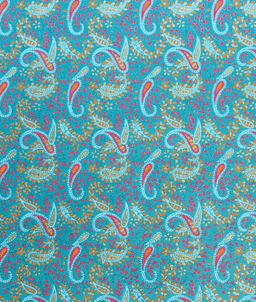 Wrapping paper Turquoise Paisley has eye catching colour combination.
