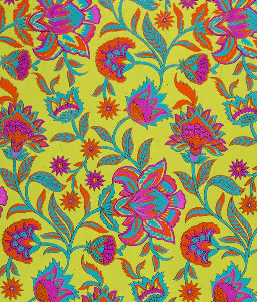 Wrapping paper green floral twist is vibrant, eco friendly & sustainable.