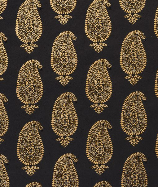 Wrapping paper black Paisley Motif is eco friendly and sustainable.