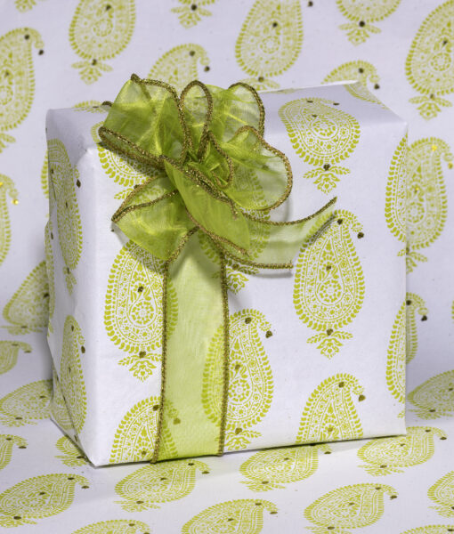 Handmade Green Wrapping Paper