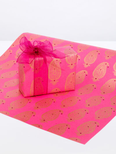 Wrapping paper pnk paisley motif is smart, eco friendly and sustainable.
