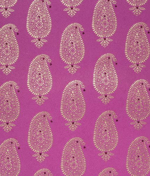 Wrapping paper pnk paisley motif is eco friendly and sustainable.