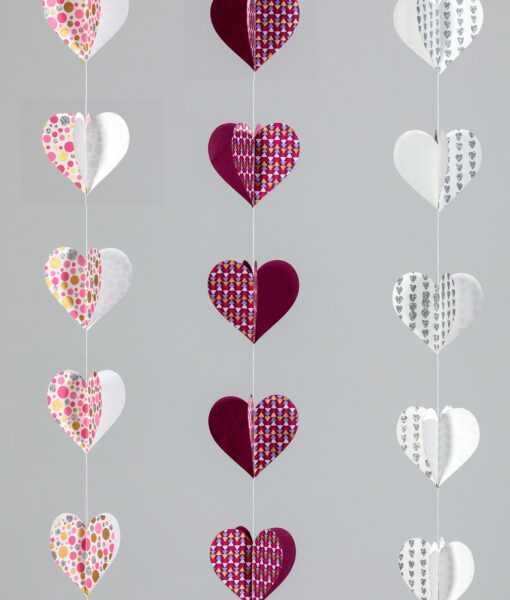 Heart paper mobiles are handmade, eco friendly and ever so cheerful.