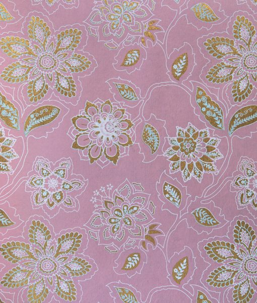 Wrapping paper baby pink dahlia is full of blooming flowers & eco friendly.