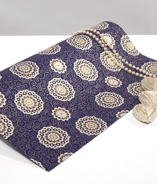 Wrapping paper Navy Rangoli which is eco friendly sustainable & luxurious