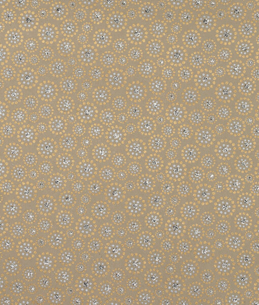 Wrapping paper beige bindi print is stylish elegant and eco friendly paper.