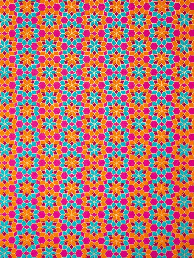 Pink kaleidoscope wrapping paper is rich, luxurious and eco friendly too.
