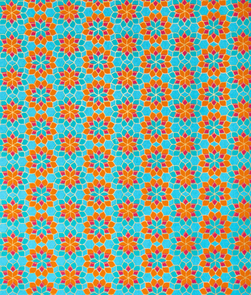 Wrapping Paper Turquoise Kaleidoscope is eco friendly and sustainable.