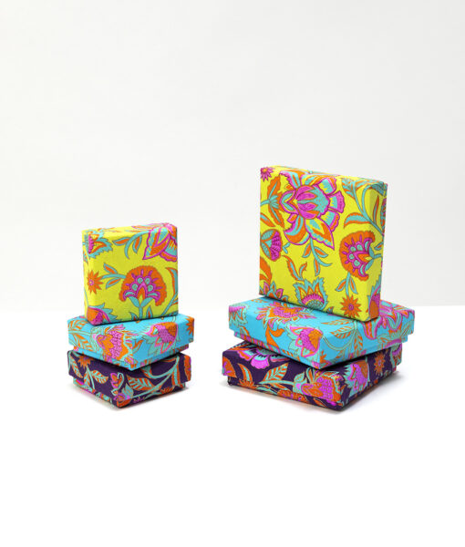 Jewellery Gift Box floral twist is handmade, vibrant and it is Eco friendly too