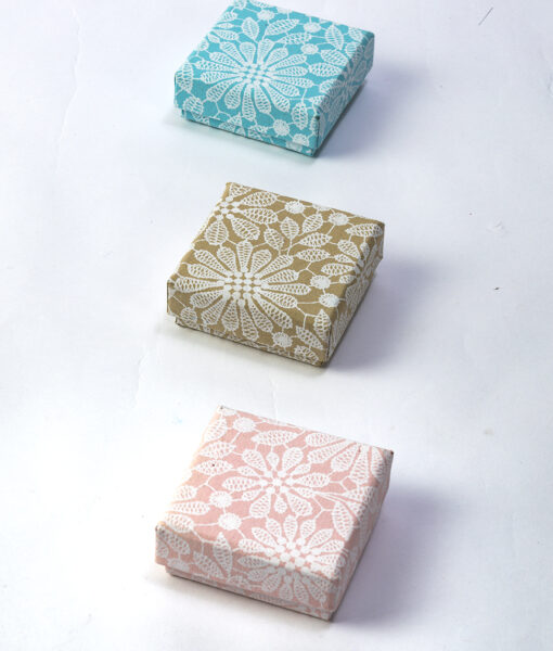 Jewellery Boxes lace print are pretty, delicate, handmade and sustainable.