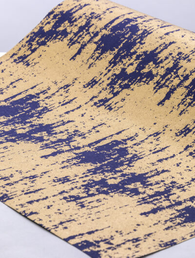 Wrapping paper navy splash is contemporary, eco friendly & sustainable.