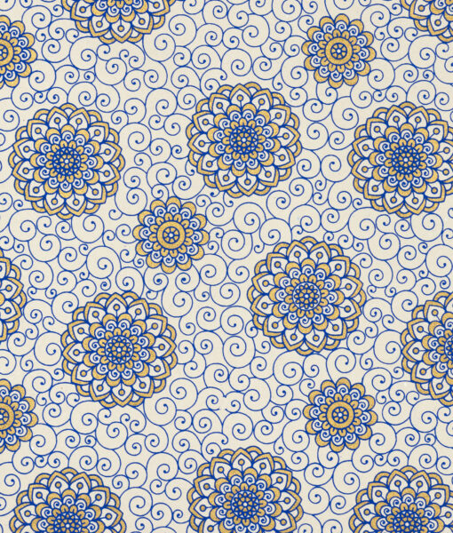 Wrapping paper Blue Rangoli print is eco friendly sustainable & luxurious