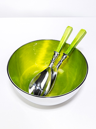 Recycled Aluminium Salad Bowl are susatinable and made by Artisans