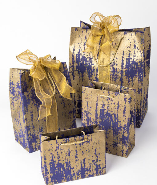 Gift bags navy splash is contemporary, eco friendly & sustainable.
