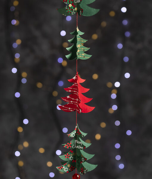 Christmas trees paper mobile adds a wow factor to your room decorations.