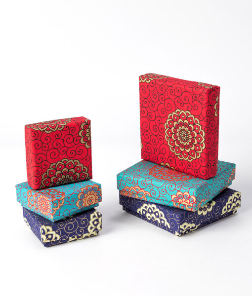 Jewellery Gift box with rangoli design is both attractive and sustainable.