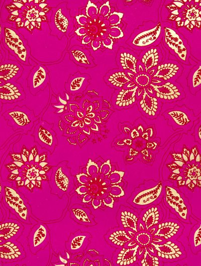 Wrapping paper pink dahlia is full of blooming flowers & eco friendly.
