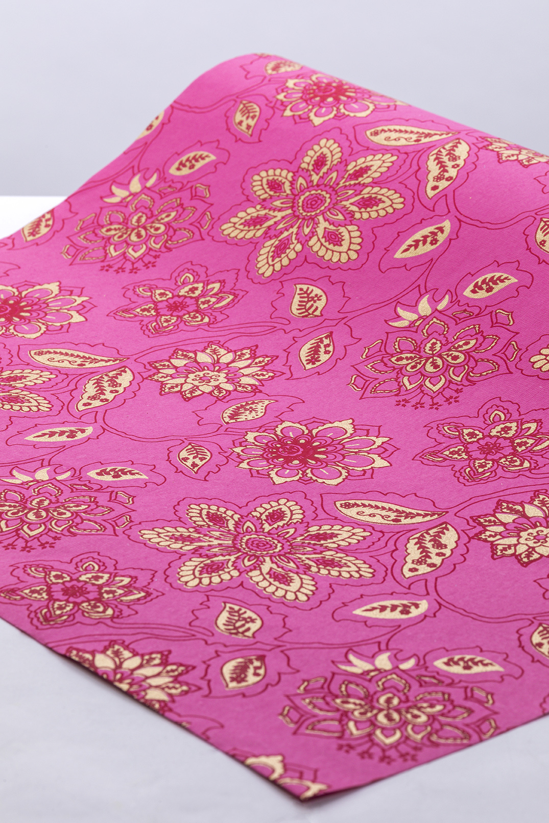 Dahlia CLOSEOUT Bulk Ream Roll Floral Gift Wrap Wrapping Paper