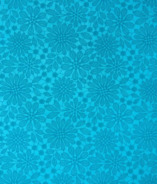 Wrapping Paper turquoise Lace Print gift wrap is handmade & eco friendly