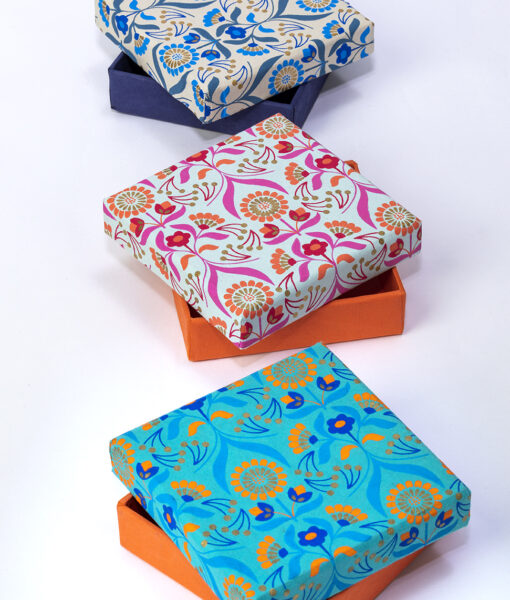 Gift box floral bouquet has an unusual print, they are stylish & eco friendly.