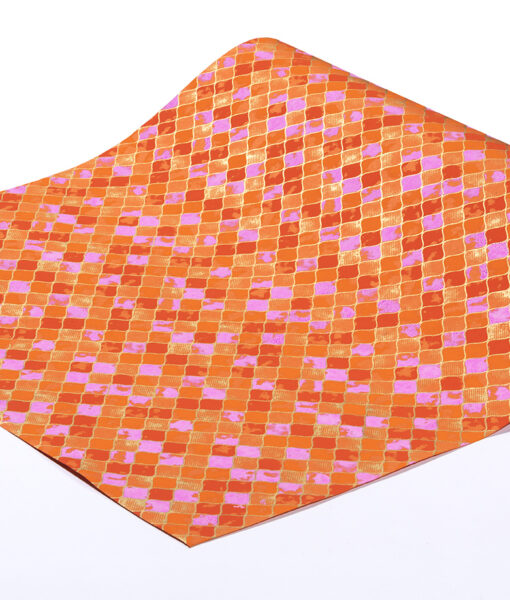 Handmade Orange Wrapping Paper