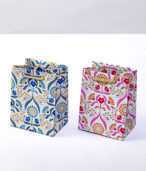 Gift Bags floral bouquet mini bag is vibrant and luxurious and eco friendly.