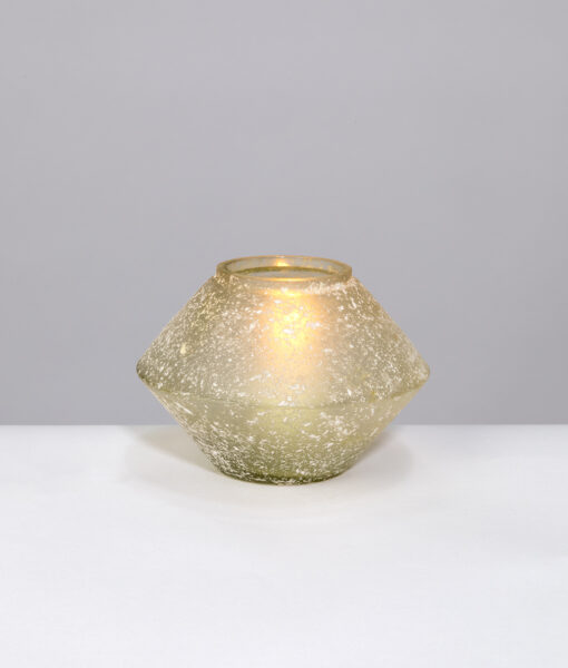 Pot shape candle holders has a natural tone and beautiful textured surface.