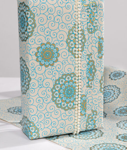 Handmade Blue Wrapping Paper