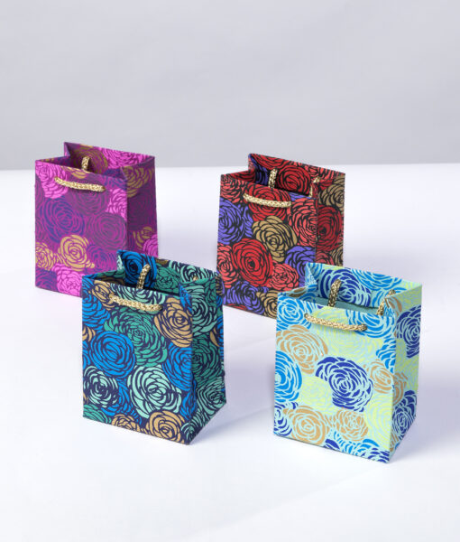Roses mini gift bags are bursting with colours, perfect for packing jewellery.