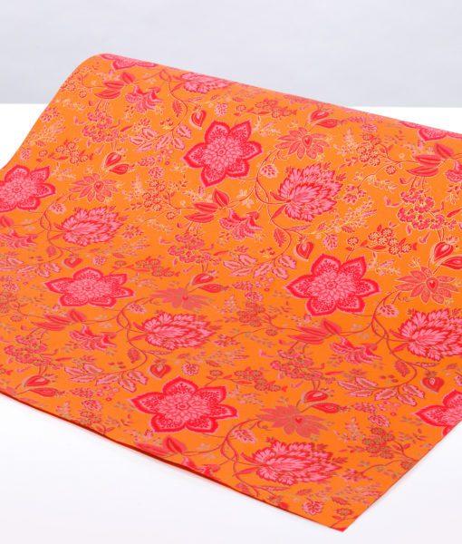 Handmade Orange Wrapping Paper