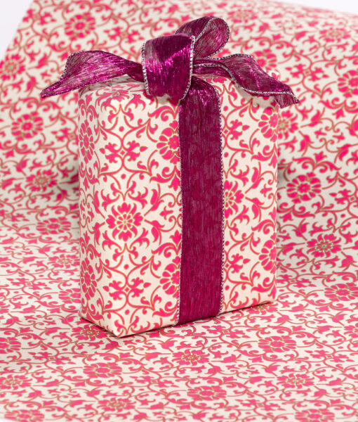 Wrapping paper Pink Florentine is rich, elegant and Eco friendly too.
